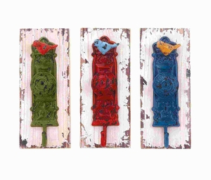 Wall Hook Assorted With Vibrant Colors - Set Of 3 - 55454 by Benzara