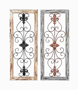 Wall Panel Assorted in Abstract Design - Set of 2 - 50228 by Benzara