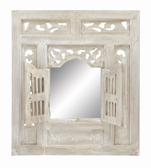 Deco Wood Mirrordecor - 38300 by Benzara