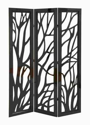 Panel Screen In Slick Brown Finish & Lightweight - Set Of 3 - 62592 by Benzara