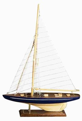 WOOD SAILBOAT FOR SHORT SPACES - 84592 by Benzara