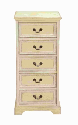 Tall Dresser with Large Storage Capacity in off White Shade - 96213 by Benzara