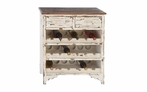 "Classic Wood Wine Cabinet 32""H, 28""W - 35019 by Benzara"