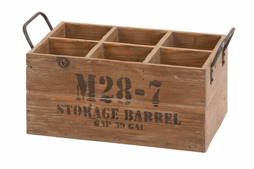 Buy wood wine crate storage barrel 16 inch x 8 inch x 9 for Where to buy used wine crates