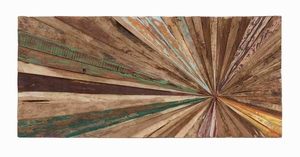 Trendy Wooden Abstract Walldecor Without Hassles Of Stapling - 38435 by Benzara