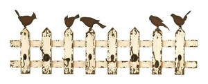 Wooden And Metal Multipurpose Eight Wall Hooks In Beige And Brown - 34872 by Benzara