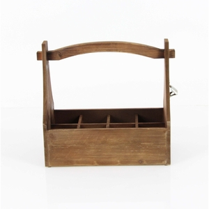 Wooden Crate Wine Holder - 98166 by Benzara
