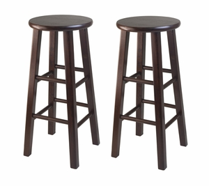 """Wooden Framed Two Smart 29"""" Square Leg Bar Stools by Winsome Woods"""