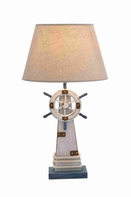 Lighthouse Table Lamp In Wooden Construction With Solid Base - 28754 by Benzara