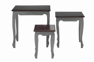 Nested Wooden Accent Table With Contemporary Style (Set Of 3) - 37734 by Benzara