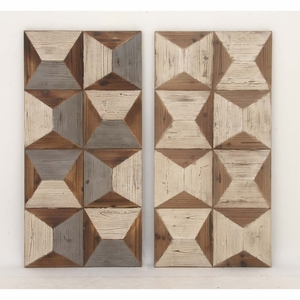 Wooden Wall Panel, Assorted In 2 - 98734 by Benzara