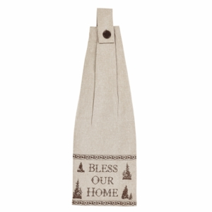 Christmas Button Loop Kitchen Towel Set of 2 - VHC Brands 26647 by Benzara