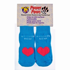 "Woodrow Wear Power Paws Advanced Small Blue / Red Heart 1.75"" - 2.0"" x 1.75"" - 2.0"""
