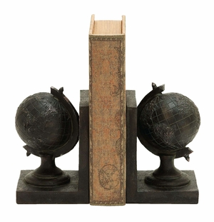Elegant World Globe Themed Book End - 55638 by Benzara