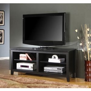 Worth Owning Wood TV Console In Black Color by Walker Edison
