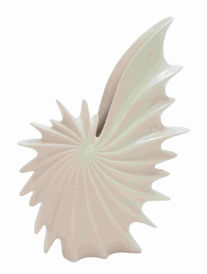 Ceramic shell shaped elegant vase - 76209 by Benzara