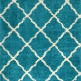 Zafirah Contemporary Area Rug, Turquoise