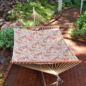 Zoe Citrus 13' Reversible Quilted Hammock by Algoma