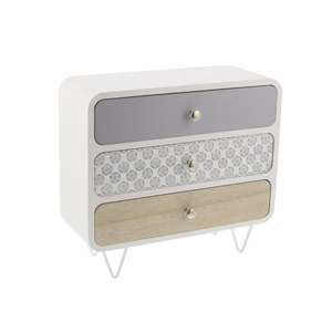 Zoey Magnificent Wood And Metal Jewelry Box - 85266 by Benzara