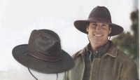Brown Weathered Cotton Outback Hat 50+ UPF