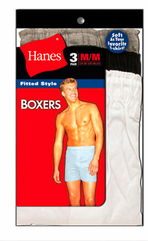 3 pack Hanes Fitted Knit Boxers