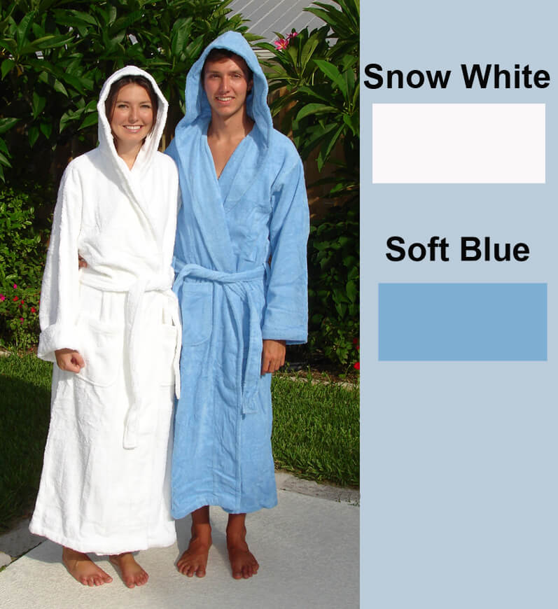 ee4067cbaf Hooded Cotton Terrycloth Spa Robe