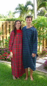 Ladies Cotton Flannel Nightgown Cowl Neck