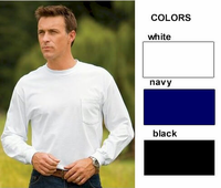 Men's Long Sleeve Cotton Pocket Ts