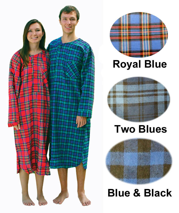 Flannel Nightshirt and Nightgowns