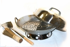 "14"" Stainless Steel Wok Set 5 pcs"
