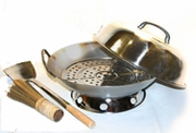 "14"" Stainless Steel Wok Set"