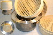 bamboo steamer with adapter