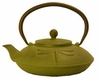 castiron green teapot, dragonfly design