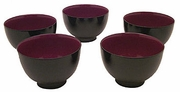 cinnabar and black lacquer bowls (5)