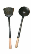 Hand-Tooled Black Iron Wok Utensils