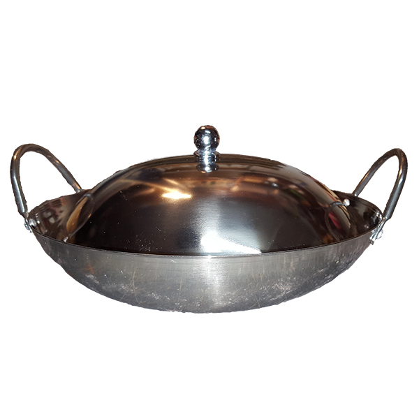 Heavy Gauge Stainless Steel Wok Wlid