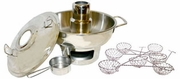 hot pot: stainless steel from Thailand (skimmers sold separately)