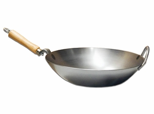 New! Carbon Steel Wok w/ Metal Loop Helper Handle