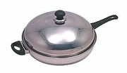 Round Bottom Stainless Wok with Handle
