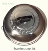 Stainless Steel Domed Lid w/ Blk Plastic Handle