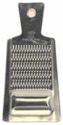 stainless steel grater w/tray at the bottom