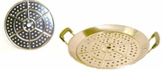 stainless steel, perforated steam rack for woks