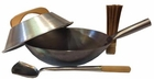 "14"" Carbon Steel USA-made Pow Wok Set"