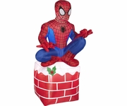 3.5' Spider Man on Chimney Blow Up