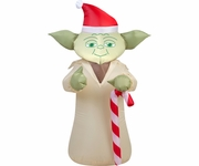 3.5' Yoda with Candy Cane Inflatable