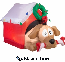 4ft. Airblown Animated Dog with Candy Cane Bone