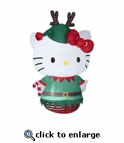 5 ½'  Hello Kitty Dressed as Elf Inflatable