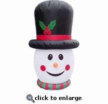 5ft. Inflatable LED Snowman Head