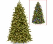 "7.5' ""Feel Real"" Princeton Fraser Fir Tree 750 Clear Lights"
