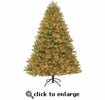 7.5' Ozark Blue Spruce Tree (1000 clear lights)
